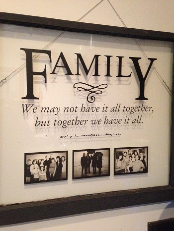 Family Window Craft Project