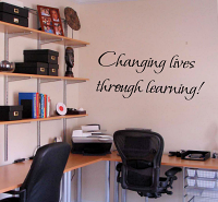 Changing Lives Through Learning Wall Decal