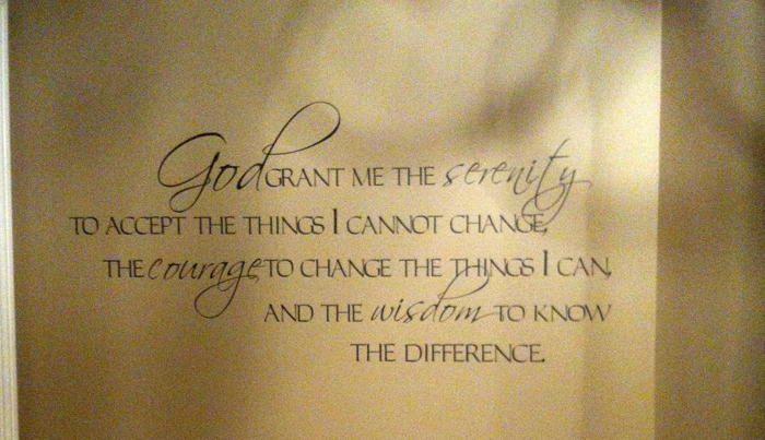 God Grant Serenity... Script Wall Decal