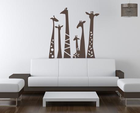 Giraffe Necks Wall Decal