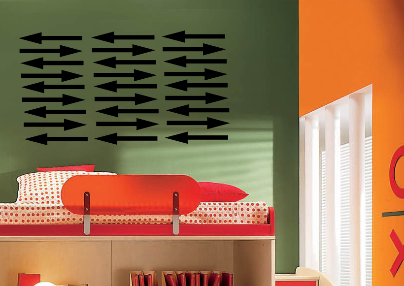 Multiple Arrows Wall Decal