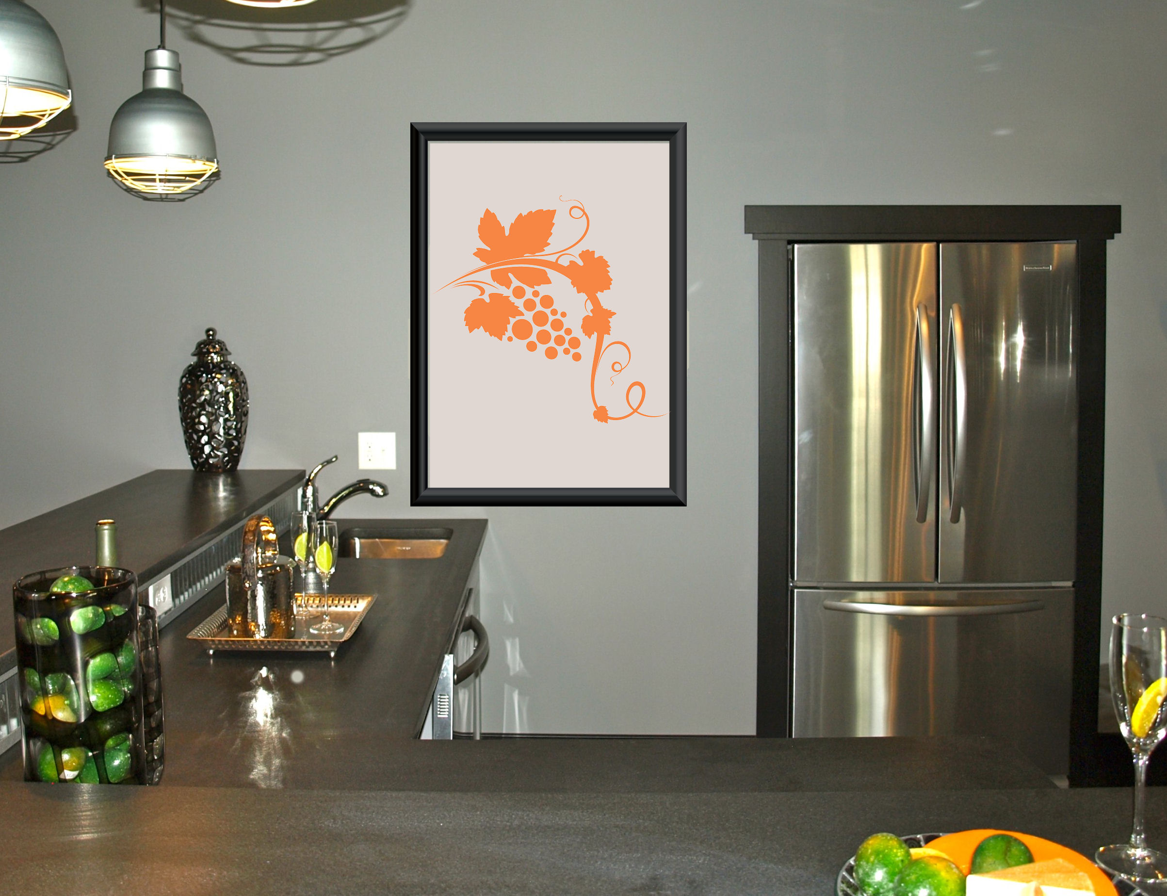 Grape Branch Wall Decal