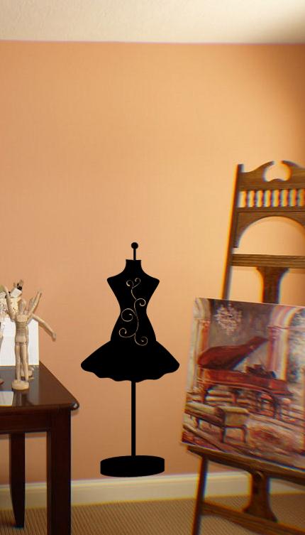 Dress Form Fancy Wall Decal