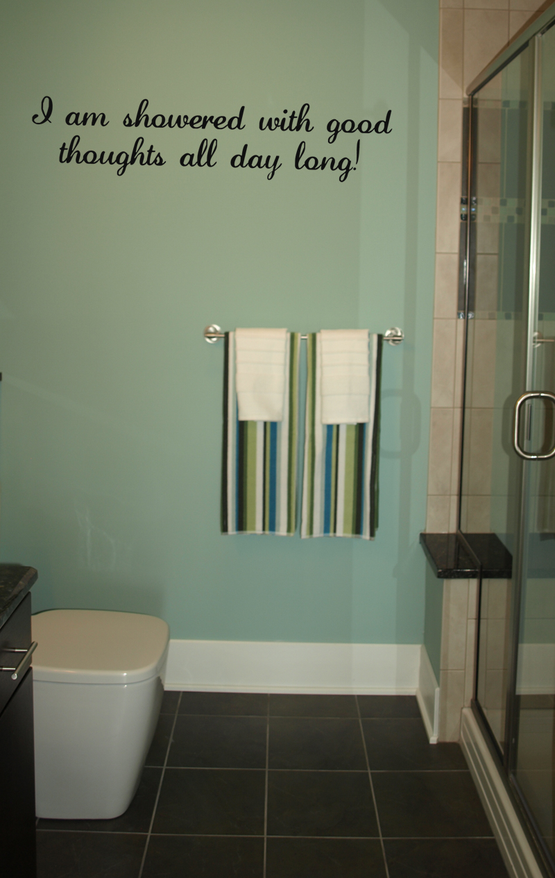 Showered With Good Thoughts Wall Decals