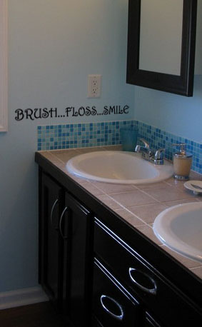 Brush Floss Smile Wall Decals