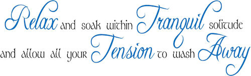Allow Your Tension To Wash Away Wall Decals