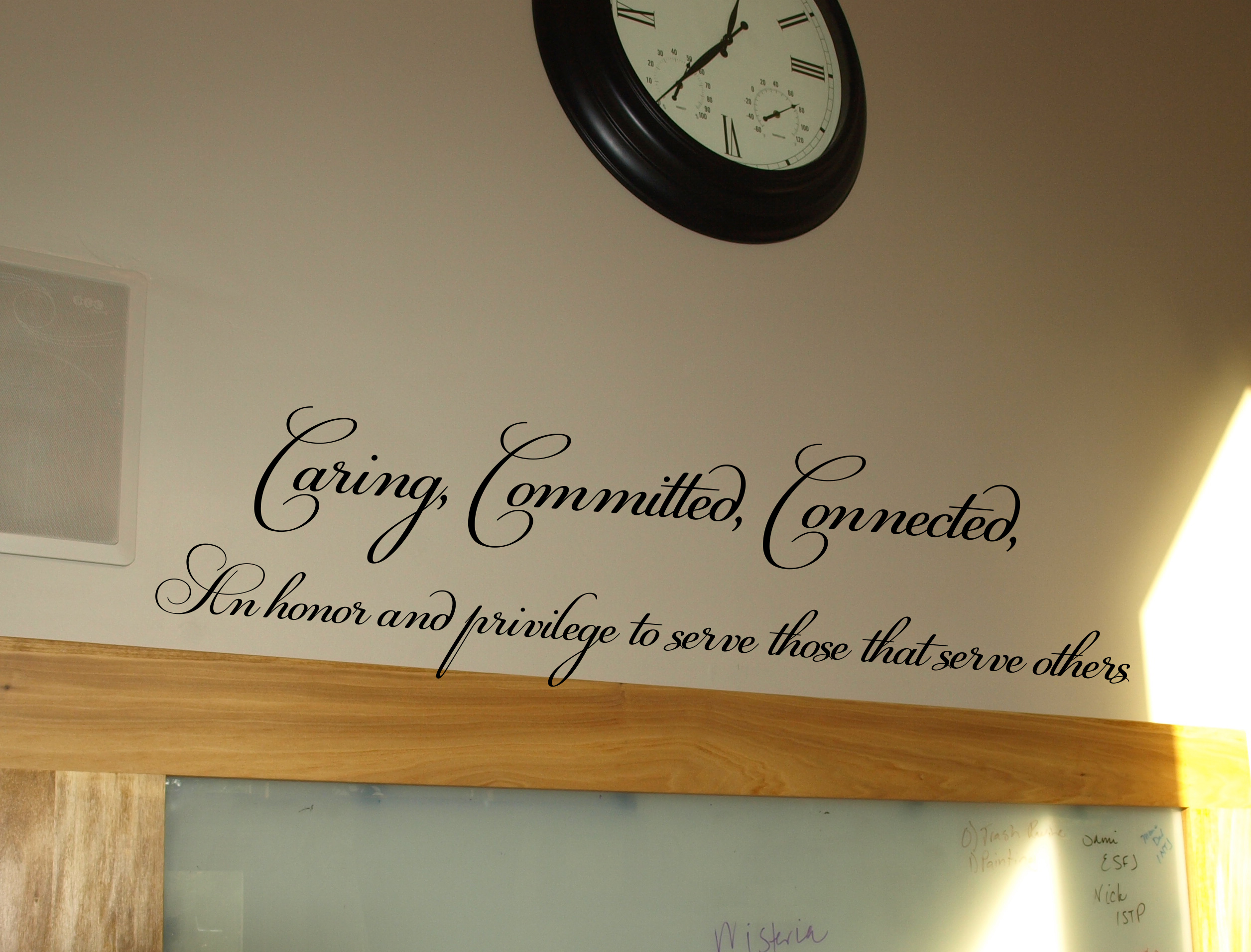 Caring, Committed, Connected Wall Decal