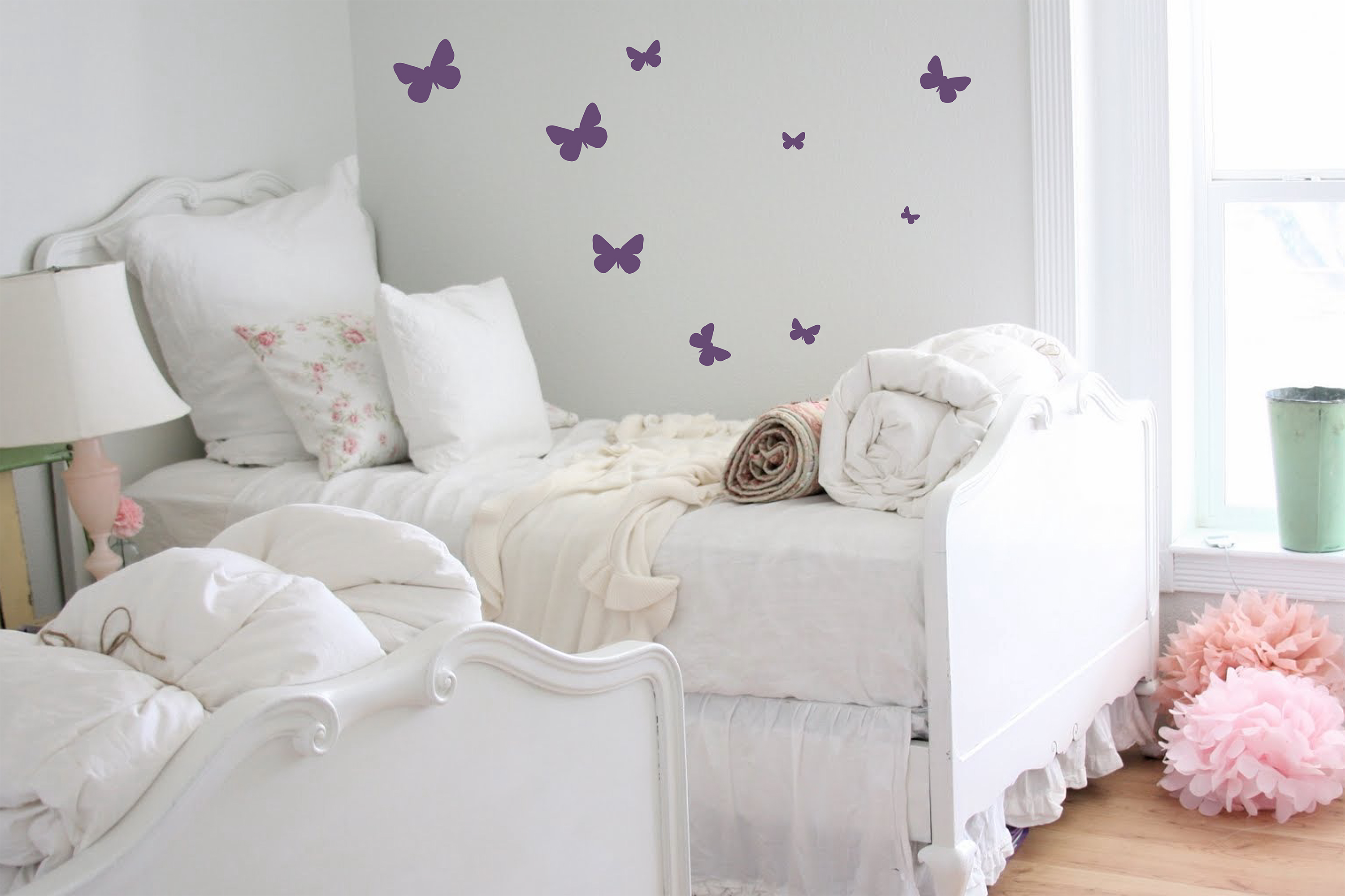 Butterflies Large To Small Wall Decal