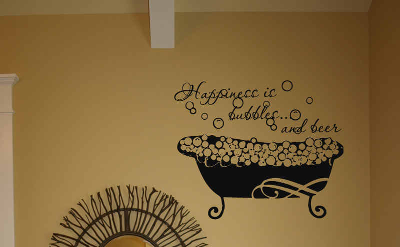 Happiness Bubbles Beer Wall Decals