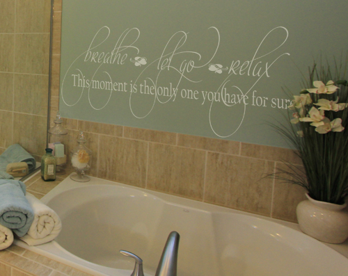 Breathe Let Go Relax Wall Decal
