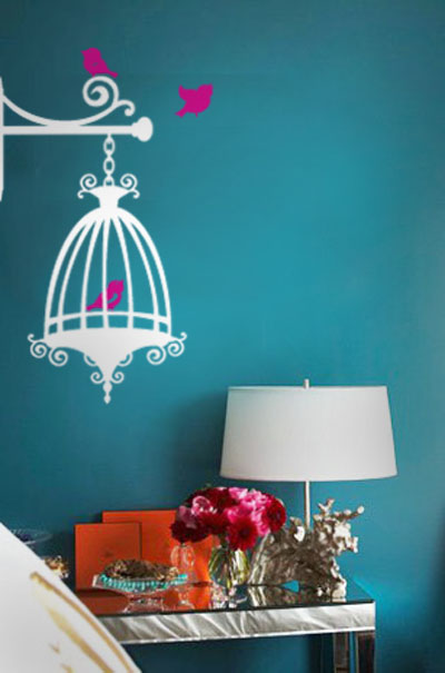 Corner Cage Wall Decal