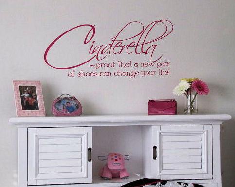 Cinderella Shoes Life Wall Decals
