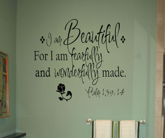 I am Beautiful Wall Decal