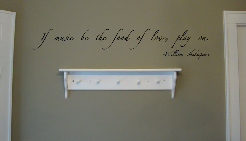 Music Be The Food Wall Decal