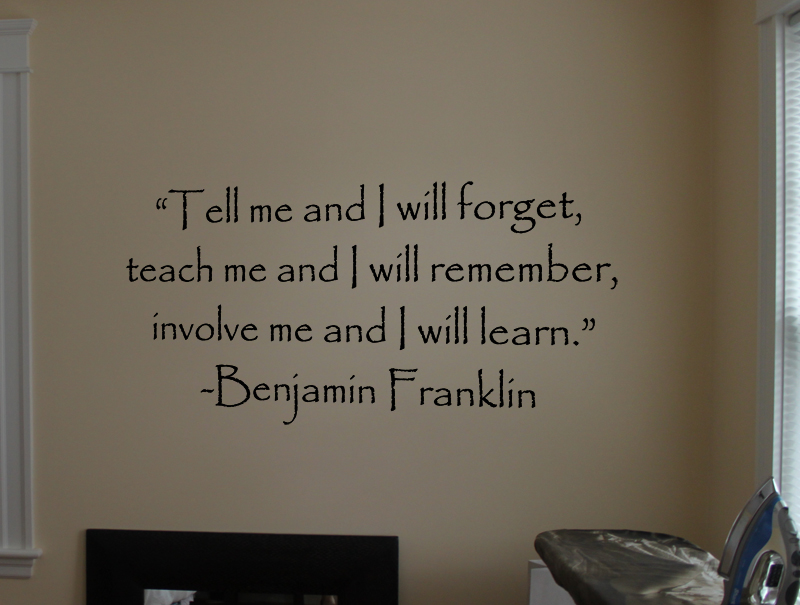 Involve Me Learn Wall Decal