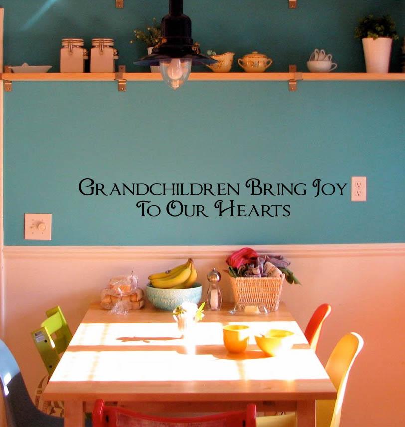 Grandchildren Bring Joy Wall Decal