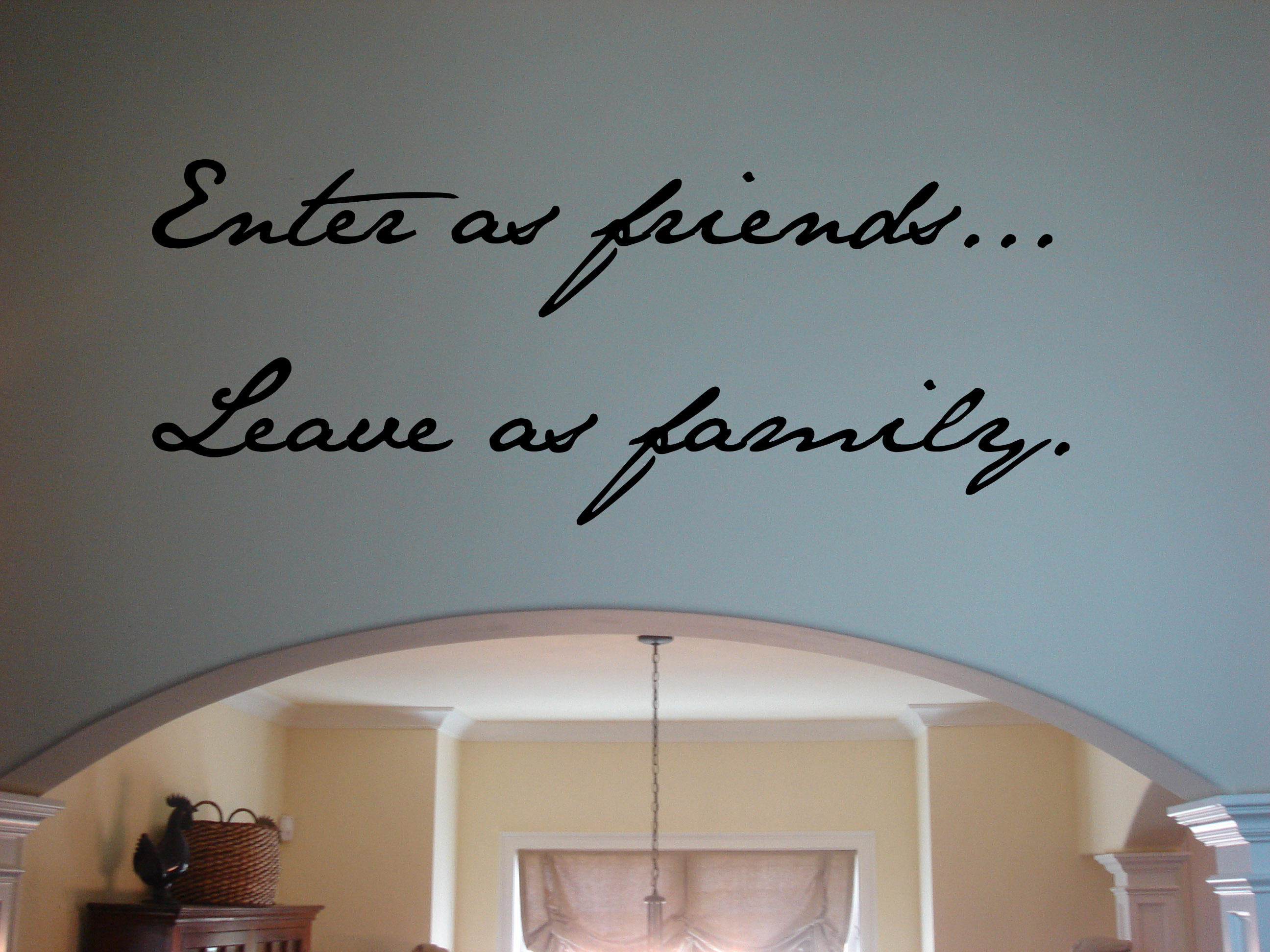 Enter As Friends Wall Decal