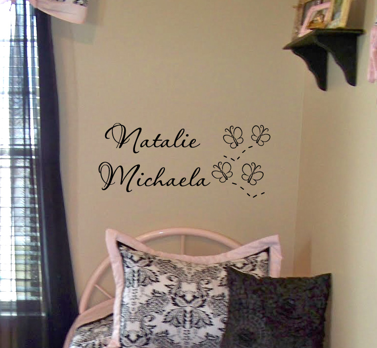 Butterfly Names Wall Decal