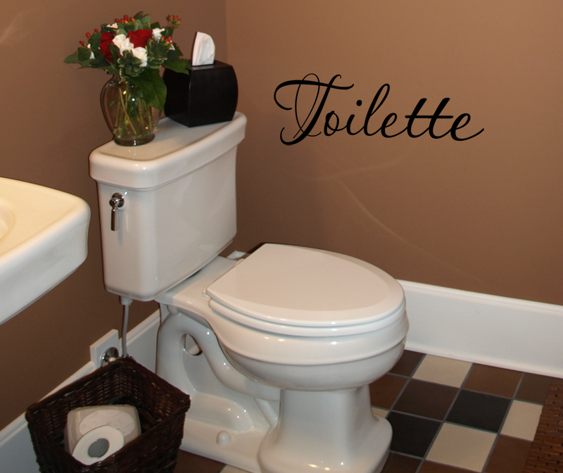 Toilette Wall Decals