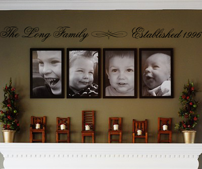 Family Established Wall Decal