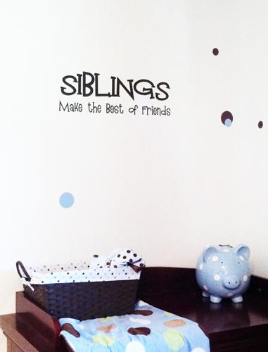 Siblings Best of Friends | Wall Decals