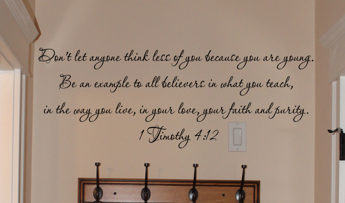 Example To All Believers Wall Decal