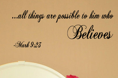 All Things Are Possible Wall Decal