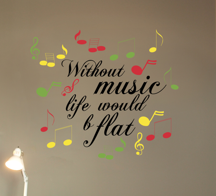 Music B Flat Wall Decal