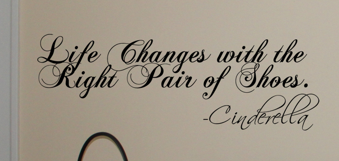 Life Changes Shoes Wall Decal