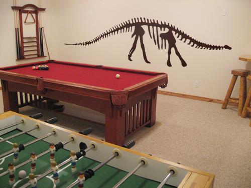 Brontosaurus Skeleton Decal