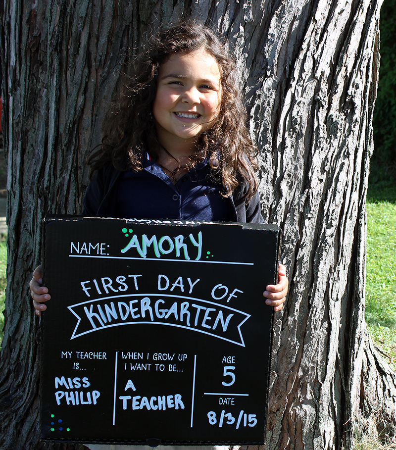 First Day Of School Sign Decal