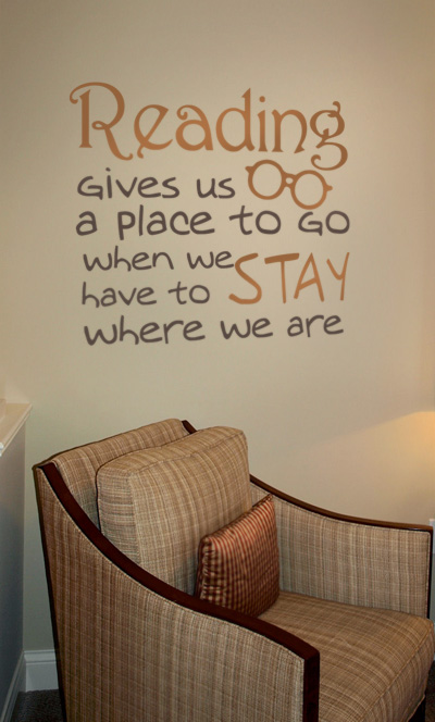 Reading Gives Us a Place Decal