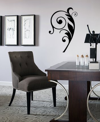 Fancy Feather Embellishment Wall Decal