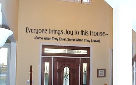 Bring Joy Wall Decal