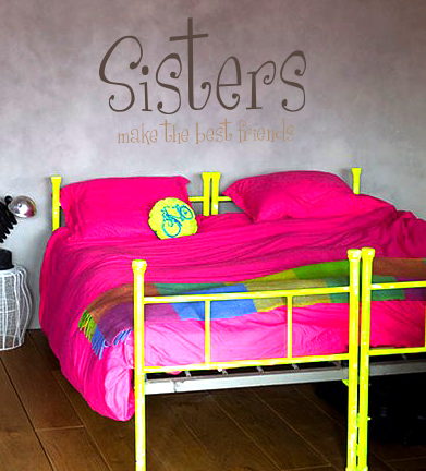 Sisters Best Friends Wall Decal