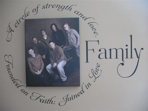 Family Circle Large Wall Decal