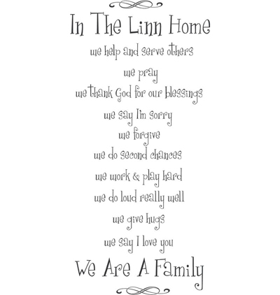 In This Home We Are Family | Wall Decals