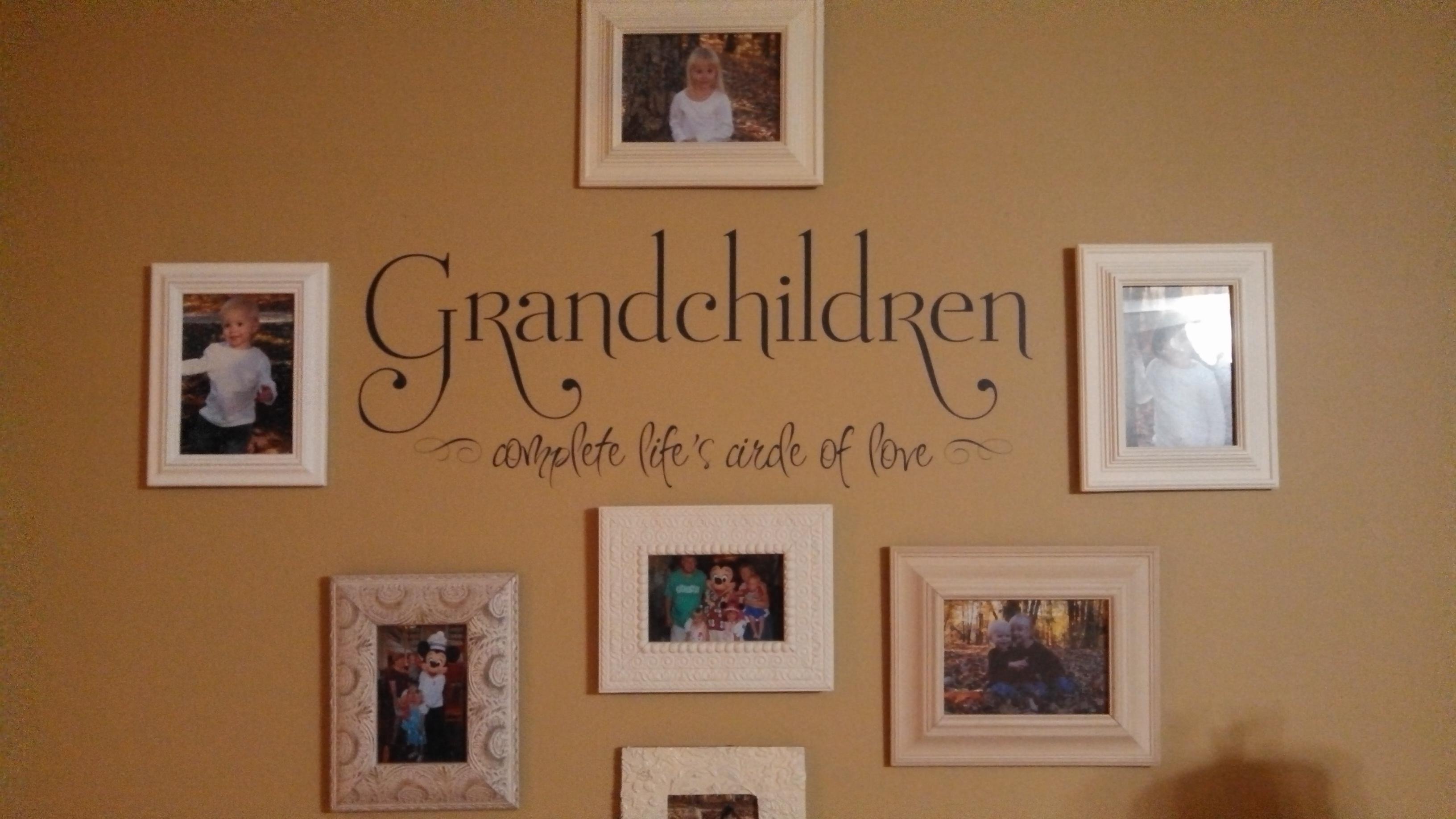 Grandchildren Complete Life's Circle Wall Decals