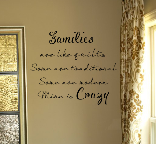 Families Are Like Quilts Wall Decal