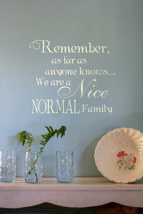 As Far as Anyone Knows Family Decal