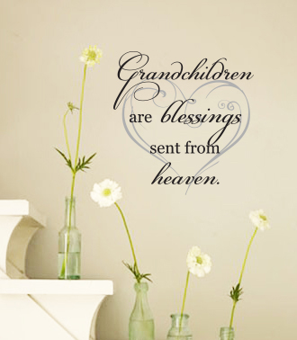Grandchildren From Heaven Wall Decal