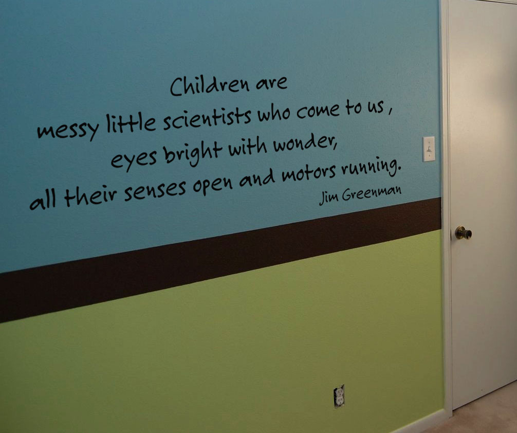 Messy Little Scientists Wall Decal