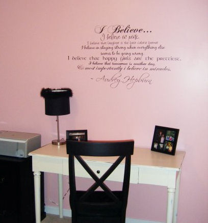 I Believe In Pink Multi Font Wall Decal Item