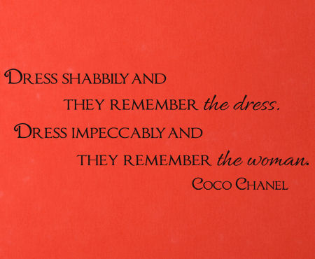 Dress Impeccably Chanel Wall Decal Item
