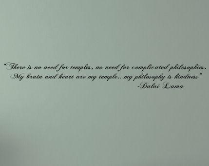 Dalai Lama My Phlilosphy is Kindness Wall Decal