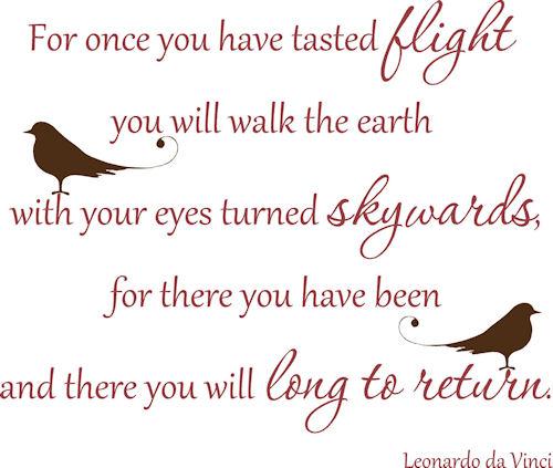 Tasted Flight Leonardo Da Vinci  Wall Decals
