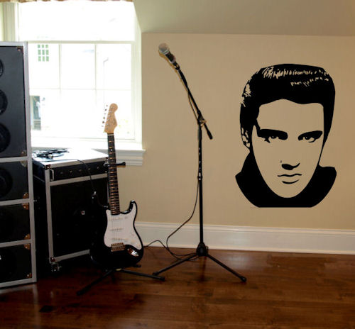 Famous Faces Elvis Wall Decal
