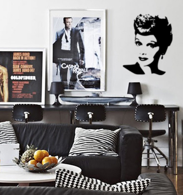 Famous Faces Lucille Ball Wall Decals