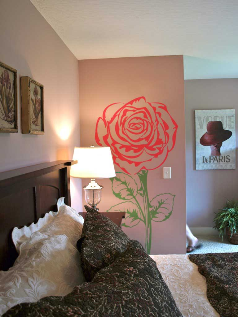 Two Color Rose Wall Decal