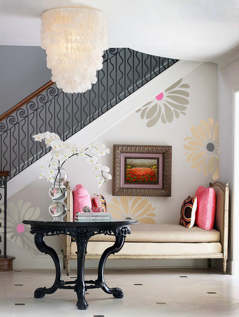 Funky Flowers Wall Decal